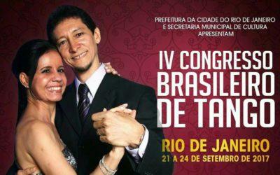 Pedro e Luísa no IV Congresso Brasileiro de Tango (CBT) no Rio de Janeiro